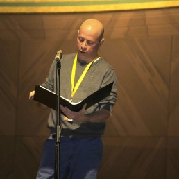 Gabriel Loewenheim bei der Probe für die Uraufführung der Todesfuge im Rahmen des Louis Lewandowski Festival